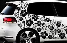 98-teiliges Auto Aufkleber Hibiskus Blumen Schmetterlinge HAWAII WANDTATTOO xxx