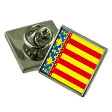 Insignia Pin de Solapa de bandera de Valencia Plata Maciza 925
