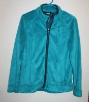 FREE COUNTRY Women's Size SMALL Teal Green Soft Fleece Full Zip Front Jacket
