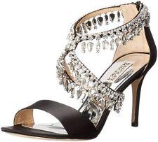 $245 size 7 Badgley Mischka Grammy Rhinestone Heel Strappy Sandals Womens Shoes
