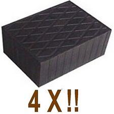 4 X bloc de caoutchouc 160x120x60 mm. pour Pont elevateur - Italie - tampons