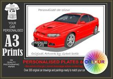 2001-06 HSV GTO OR GTS COUPE A3 ORIGINAL PERSONALISED PRINT POSTER CLASSIC CAR