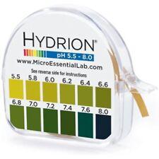 Ph. Test Tape Dispenser Hydrion Papers Strips Made Saliva Or Urine Testing-Range