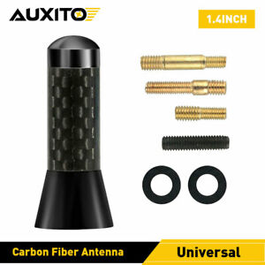 """1.4"""" Carbon Fiber Antenna Radio AM/FM Vehicle Roof Stubby Aerial for Ford Chevy"""