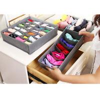1/3Pcs Underwear Bras Socks Ties Divider Fabric Storage Box Closet Organizer New