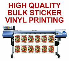 CUSTOM STICKER PRINTING VINYL CUT ANY SHAPE BUSINESS LABELS DESIGN CUT STICKERS