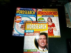 2 Take A Break Wordsearch  & 1 Puzzler Wordsearch Puzzle Books