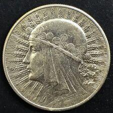 Poland 1932 10 Zlotych Silver  Queen Jadwiga Y 22