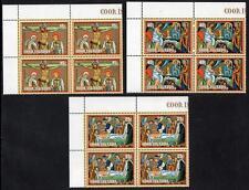 COOK ISLANDS MNH 1981 SG807-9 Easter Blocks of 4