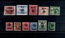 K93) 1944 Duitse bez Sark 11x opdruk maakwerk/fake