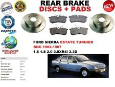 FOR FORD SIERRA ESTATE TURNIER 82-86 REAR BRAKE DISCS SET + BRAKE PAD KIT