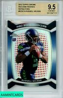 2012 TOPPS CHROME Russell Wilson #RZDC14 RED ZONE ROOKIE REF. RC BGS 9.5 GEM MT