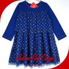 290903a20bae1 NWT HANNA ANDERSSON GLITTER TWIRL GIRL DRESS DEEP BLUE SEA GOLD STAR 110 5