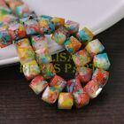 New 10pcs 10mm Cube Square Faceted Glass Loose Spacer Colorful Beads Ink Green