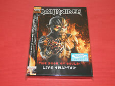 2017 JAPAN 2 CD SET IRON MAIDEN The Book Of Souls Live Chapter DELUXE BOOK CASE
