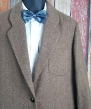 Abercrombie & Fitch Wool Blend Tweed Brown Herringbone Sport Coat Jacket Medium
