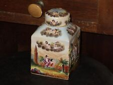 Rare Late 19th. Century Hand Painted Relief Capodimonte Porcelain Tea Caddy