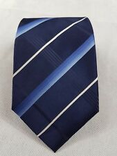 George Mens Tie Navy Blue Classic Fit 100% Silk T15