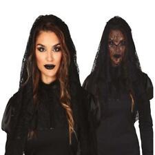 Black Widow Veil Witch Hat Gothic Theme Halloween Fancy Dress Party Accessory