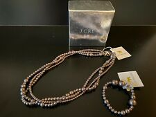 J Crew Crewcuts Girls Faux Pearl Necklace & Bracelet Khaki/Brown One-size