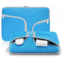 """For Various 13"""" 13.3"""" Tablet Laptop Hand Carry Neoprene Sleeve Pouch Case Blue"""