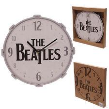 Orologio da parete Design THE BEATLES Tamburo Scatola Regalo da Collezione Rock Home Decoration