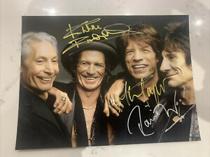 Genuine Hand-Signed Rolling Stones Photo, 8x6