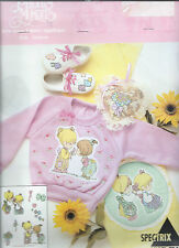 New listing Precious Moments ~ Sisters #518 Sew-Free Fabric Applique Motifs Vintage Oop 1993