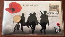 AUSTRALIA 2016 REMEMBRANCE CENTENARY WW1 PNC $1 UNCIRCULATED COIN
