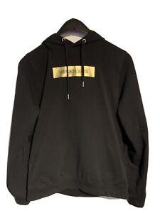 Versace JEANS Kapuzenpullover, XL, Herren, schwarz/gold