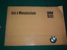 BMW 1600 LIBRETTO USO E MANUTENZIONE