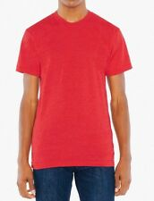 American Apparel 50/50 Poly Cotton Crew Neck T-Shirt BB401 Heather Red X-Large