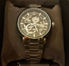 Bulova Sutton Automatic Skeleton Dial Stainless Steel 43mm Case Men's Watch