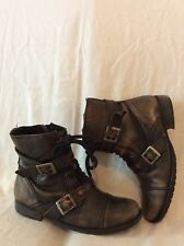 Schuh Brown Ankle Leather Boots Size 4.5