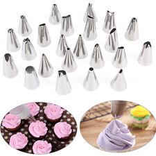 24pcs Icing piping nozzles pastry tips cake sugarcraft decorating bakery tools