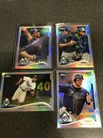 2014 TOPPS CHROME BASEBALL REFRACTOR CARD LOT X4 TAMPA BAY RAYS DAVID PRICE MLB