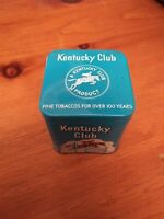 VINTAGE ADVERTISING TOBACCO KENTUCKY CLUB VERTICAL POCKET TIN  HORSE AND RIDER