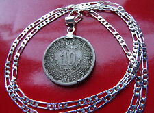 "Old Classic Mexican Aztec Calendar Pendant on a 30"" 925 Sterling Silver Chain"