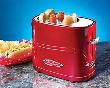 Nostalgia Electrics Retro Series Pop-Up Hot Dog Toaster HDT600RETRORED New
