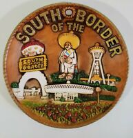 """Vintage South of the Border 3D Collectors Plate 8"""" Kitschy Retro Decor"""