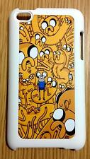 For iPod Touch 4th Generation Adventure Time Finn and Jake White Back Hard Case