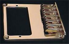 Guitar Parts TELECASTER BRIDGE - 6 Saddle - Cut for Humbucker - GOLD
