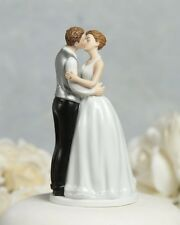 Romance Formal Kissing Couple Romantic First Kiss Wedding Cake Topper