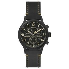 Timex TW4B09100 Mens Expedition Black Leather Strap Watch RRP £89.99