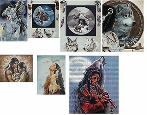 MIXED NATIVE INDIAN - CROSS STITCH CHARTS - 7 to choose from