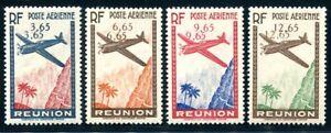 REUNION 1938 Yvert PA 2-5 * DOPPELTE WERTZIFFERN 880€(S5868