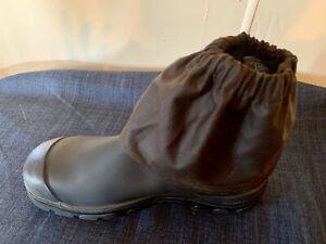 Oilskin Boot Guards, Dark Brown , Handmade In Tasmania