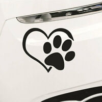 Pet Paw Print With Heart Dog Cat Vinyl Decal Car Window Bumper Stickers