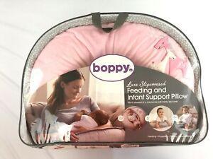 Original Boppy Baby Pillow Luxe Slipcover Giraffe Snuggle Pink Feeding & support