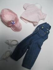 "VINTAGE EDEN MaDeLiNe 8"" doll Dollhouse CLOTHES-Overalls Pink Top/M Hat Shoes ex"